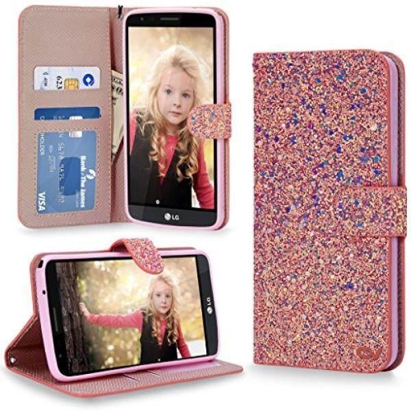 LG Stylo 3 Case, Cellularvilla [Bling] Luxury Multi Tonal Glitter Premium Leather Wallet