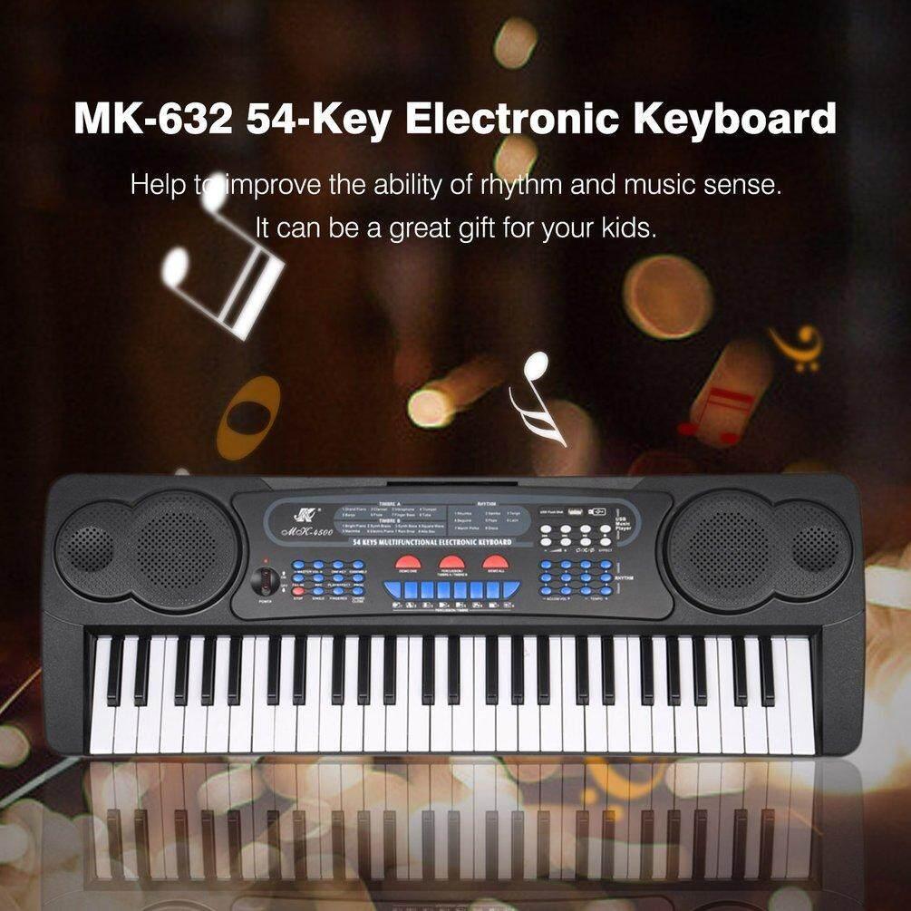 ELEC MK-4300 54 Keys Multifunction Electronic Keyboard 8 Demo Songs  Electric Organ black US plug Malaysia