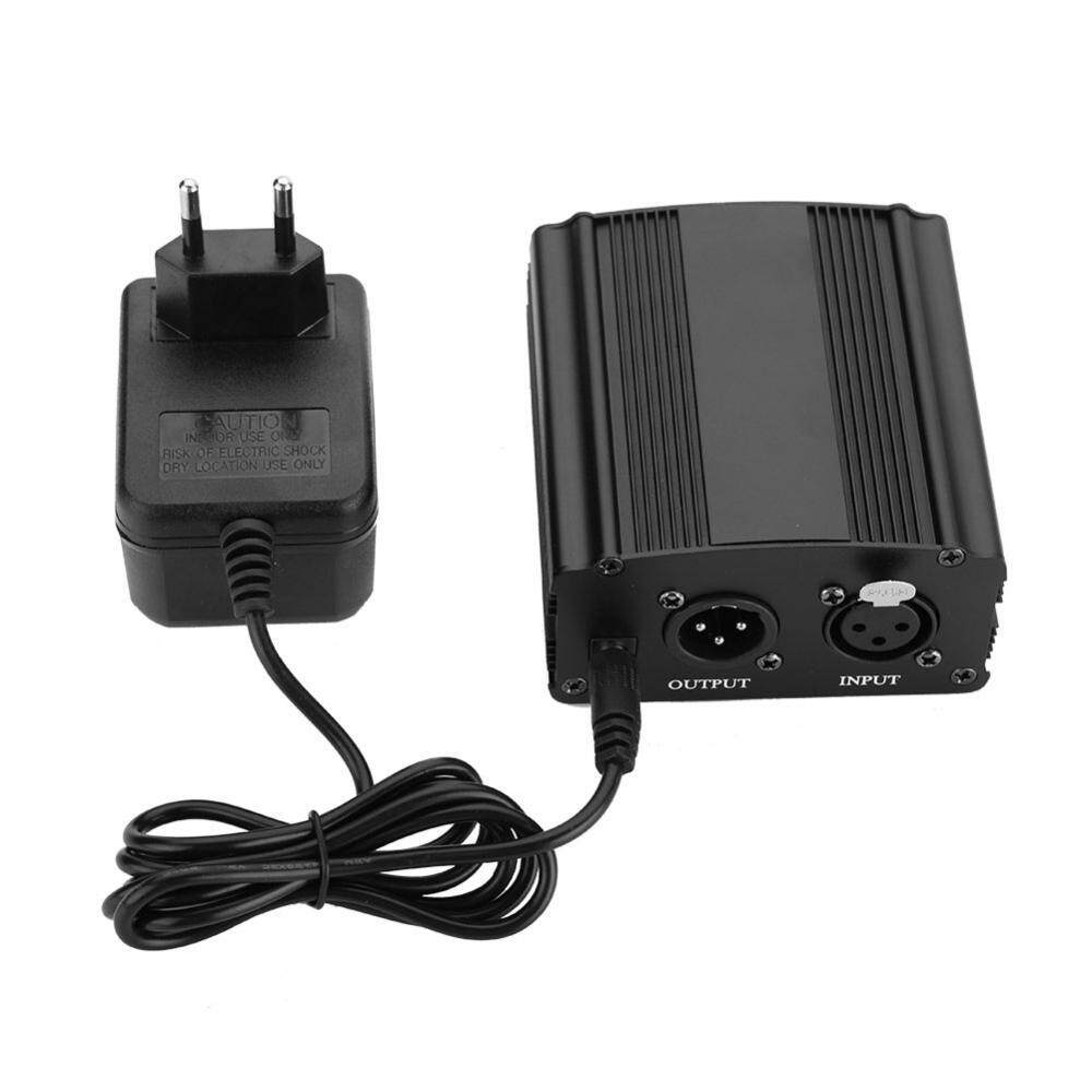 Mini 1-Channel 48V Phantom Power Supply with Power Adapter for Microphone EU Plug - intl