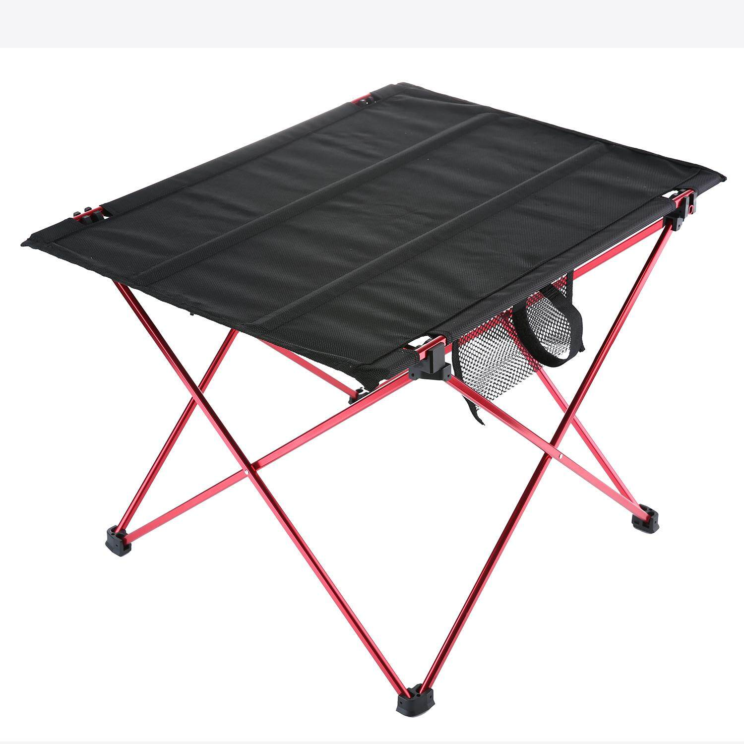 jinma Folding Camping Table Ultralight Portable Hiking Picnic Mountaineering Table with Carrying Bag,Red