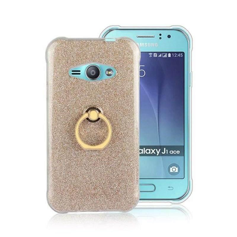 TUKE Case For Samsung Galaxy J1 Ace Back Cover Bling Powder Finger