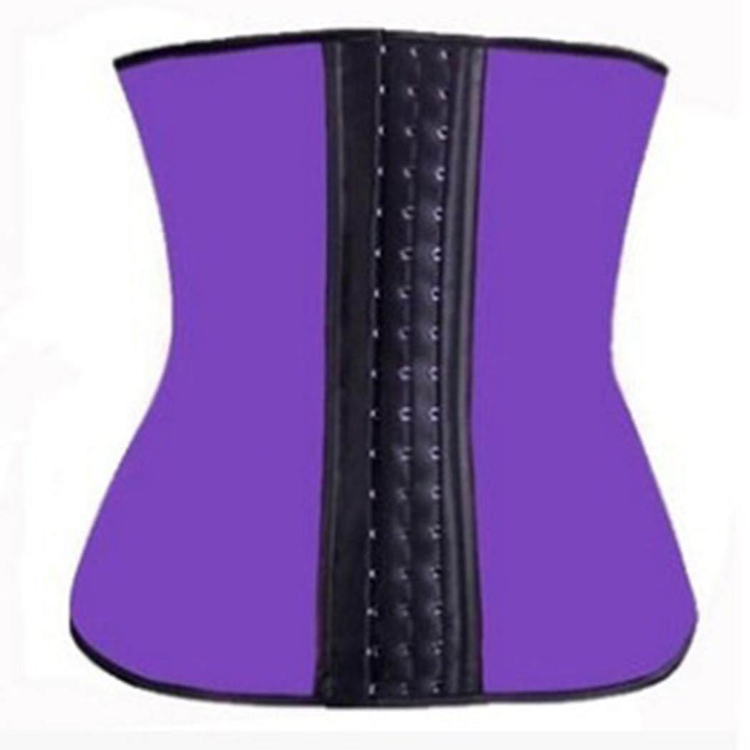 Terbaik Seller Sunweb Baru Modis Wanita Kasual Corset Pinggang Latihan Shaper Badan Shapewear Sabuk (Biru)-Internasional