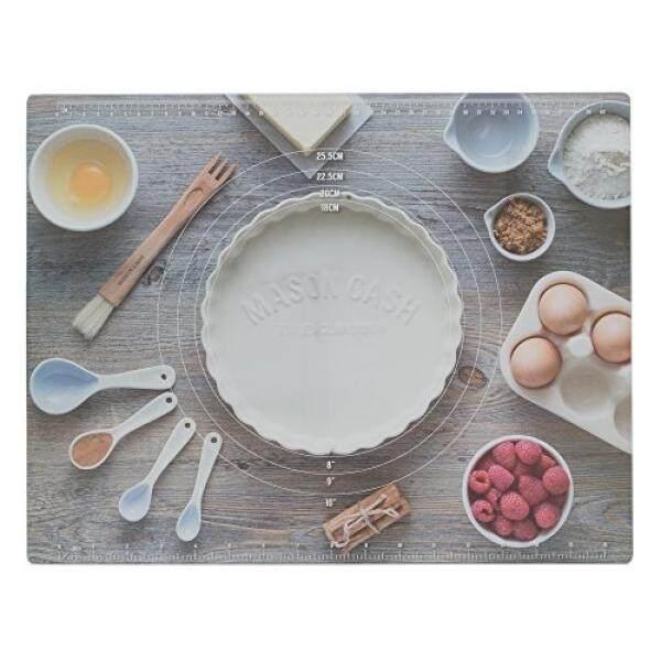 Mason Arus Malang Kaca Papan Kue, Menjamin Kue Kering Akan Mudah Digulung dan Angkat; papan Fitur Resep Klasik, Kaki Non-slip Di Base; 18 Inci X 14 Inci-Internasional