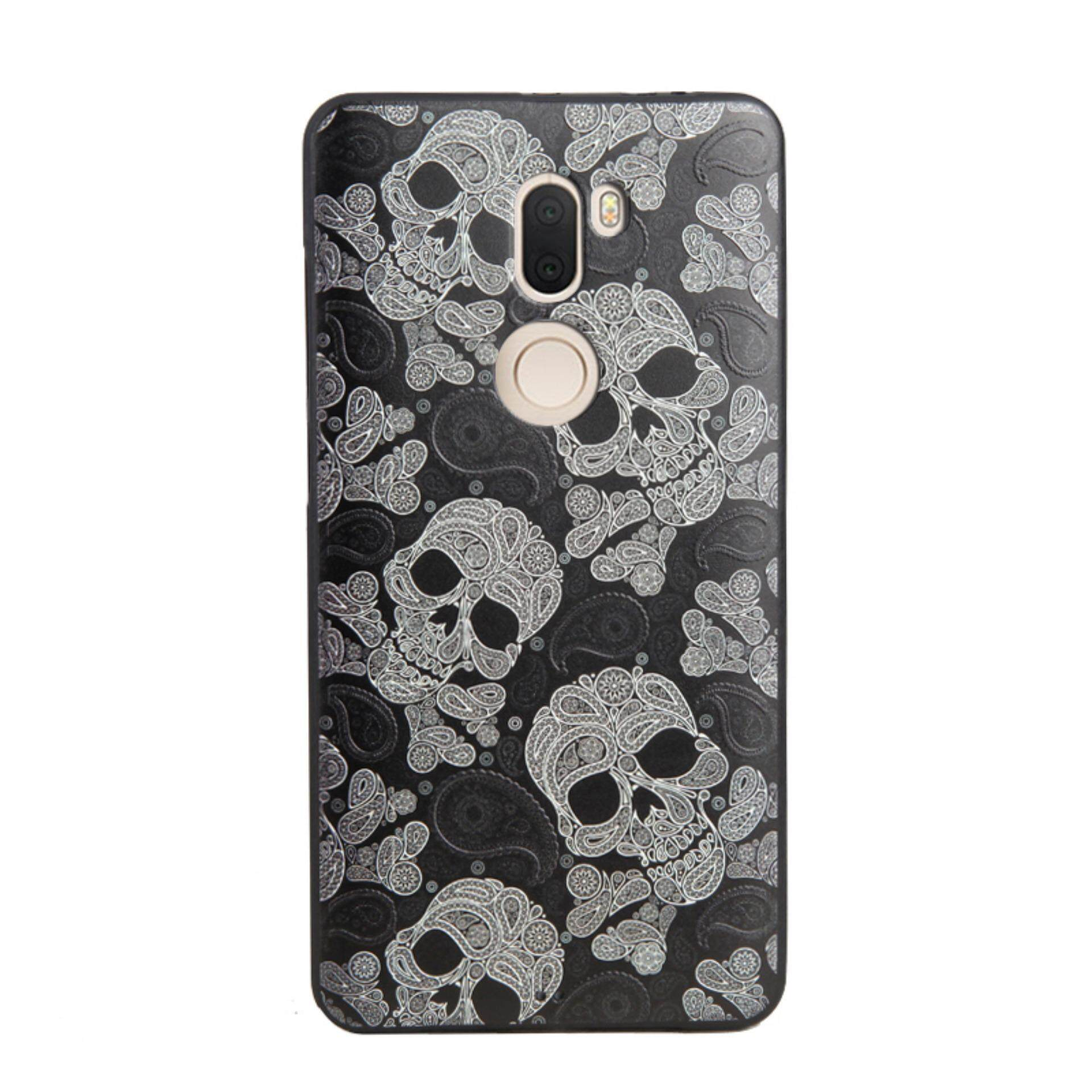 Bogdana for Xiaomi Mi 5s Plus Case Soft TPU 3D Painted Emboss Phone Case (Black