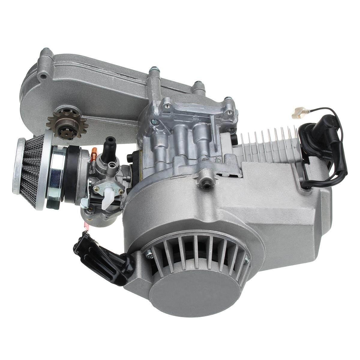 Gearbox 49cc MINI Moto MINI Moto Kotoran Sepeda Quad ATV Mesin Karburator Pullstart Coil-Internasional