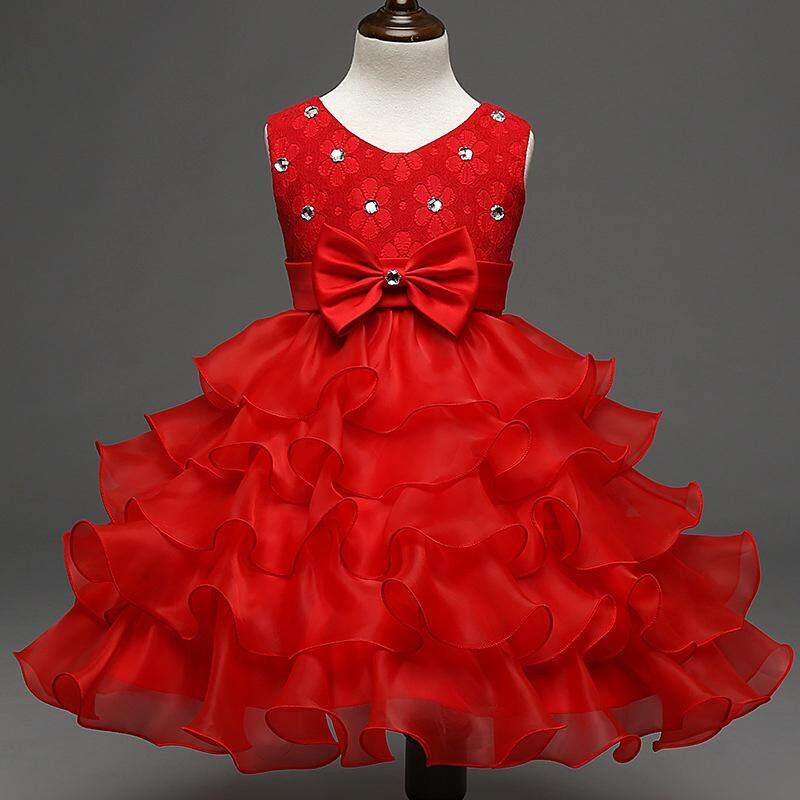 Giá bán Bé Gái Váy Đầm Noel Bé Xù Ren Công Chúa Tutu Áo cho Tiệc Cưới Các Sự Kiện-quốc tế