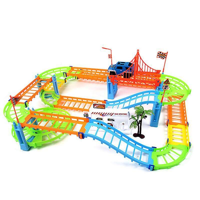 73pcs Two-Layer Bend Flex Magic Tracks Amazing Car Toy Spiral Racetrack - Intl By Zoahu.