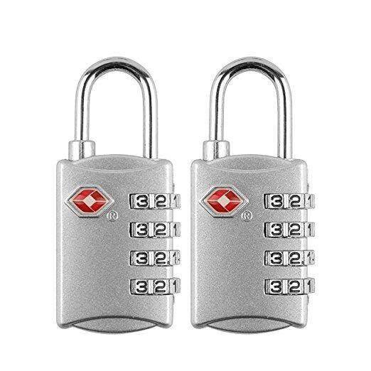 Tsa Kunci Koper, Baffect®Gembok Koper Gembok Bagasi dengan 4 Kunci Digit untuk Koper