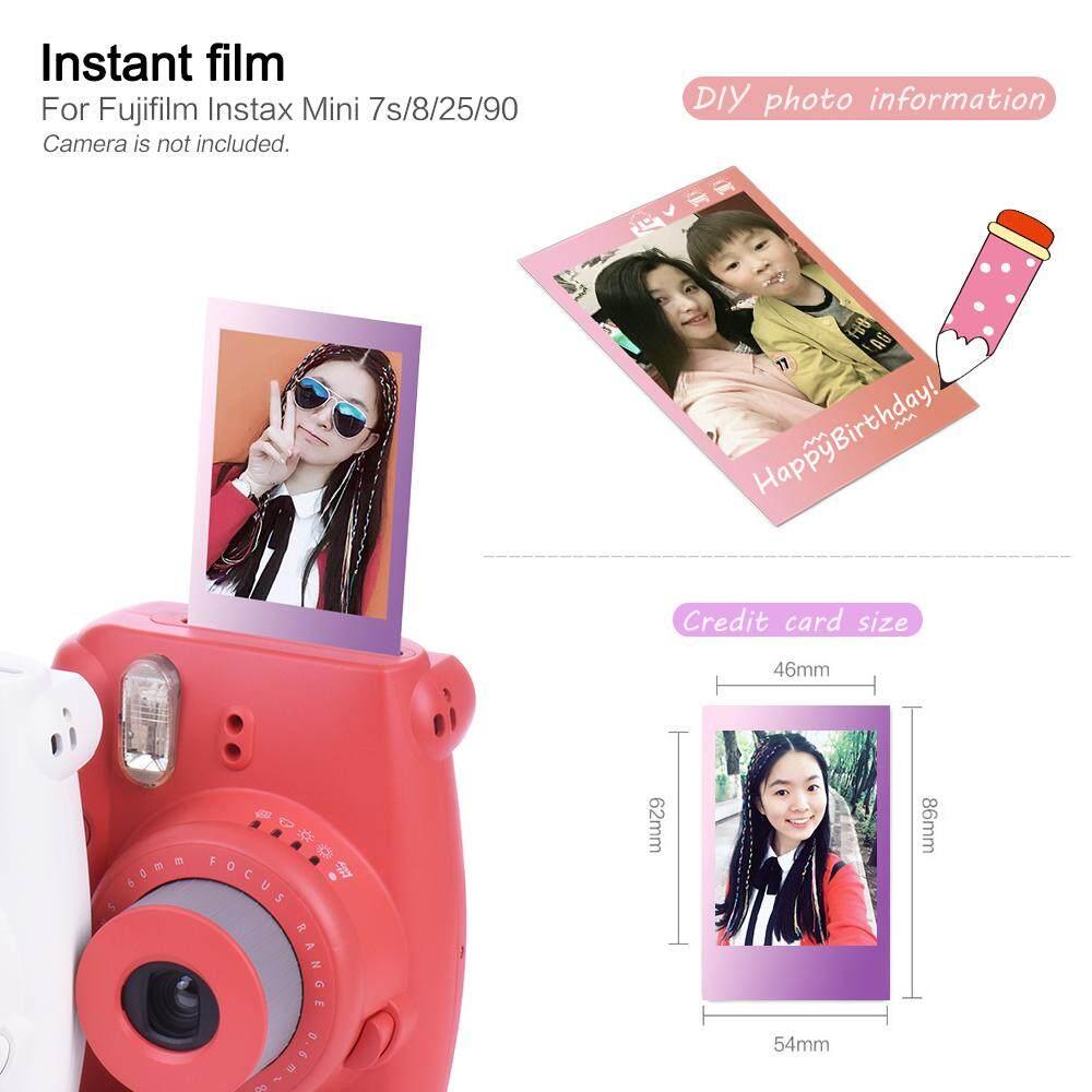 Features Fujifilm Instax Mini 10 Sheets Colorful Rainbow Film Photo Paper Comic Snapshot Album Instant Print For