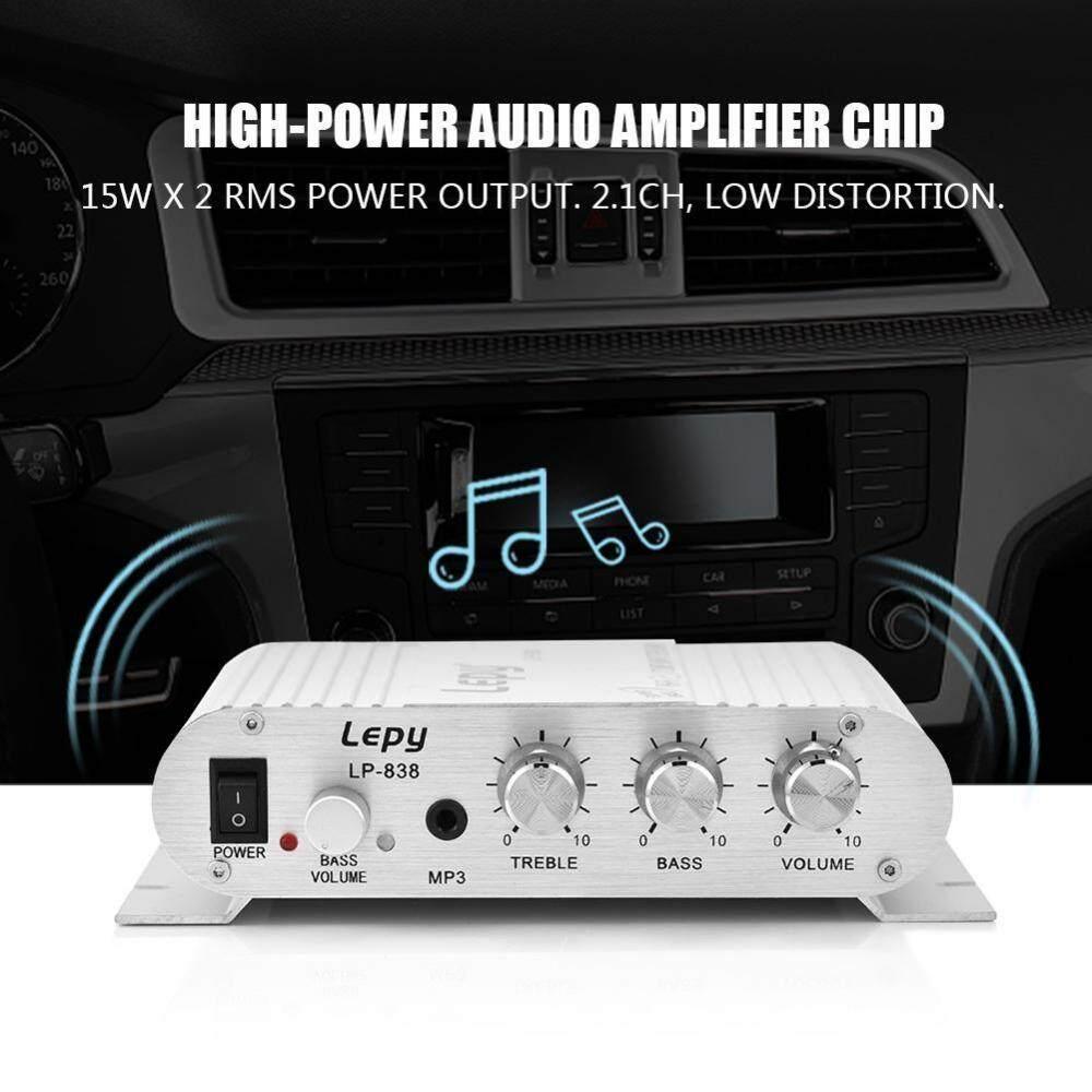 Features Car Home Amplifier Rca Gain Level Volume Knob Booster Audio Mini Hifi 21 Stereo Bass Auto Power Digital Amp Silver