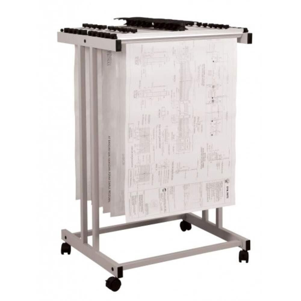 Plan Hanger Stand PHS-199 - Top Loading - A1 Size - (Hanger Clamps Sold Separately) A8R1B12
