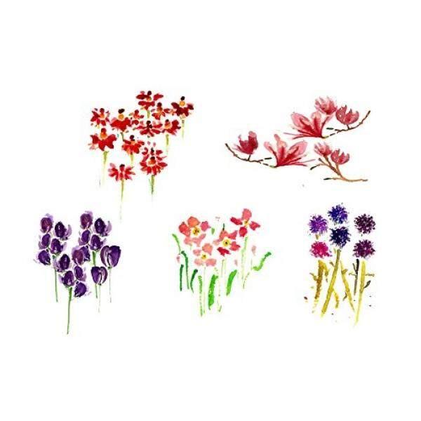 Bunga Kartu Ucapan untuk Mengatakan Terima Kasih atau Minta Maaf sebagai Undangan untuk Acara Anda atau Hanya untuk Mengirim Ke Bunga Pecinta Rosea, Magnolia, Helenium, dunia Thistle, Hebe, Pack Of 10-Intl