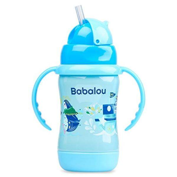 Sedotan Baja Nirkarat Top Set Botol dengan Babalou Bayi Baja Tahan Karat, Bebas BPA dan