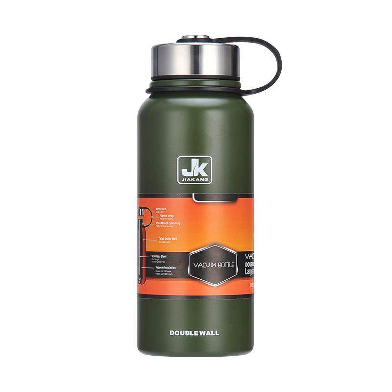 New Space Thermal Insulation Pot 304 Stainless Steel Insulated Cup Outdoor Sports Cup Large Capacity Water Cupngreen 1100ml - Intl By Freebang.