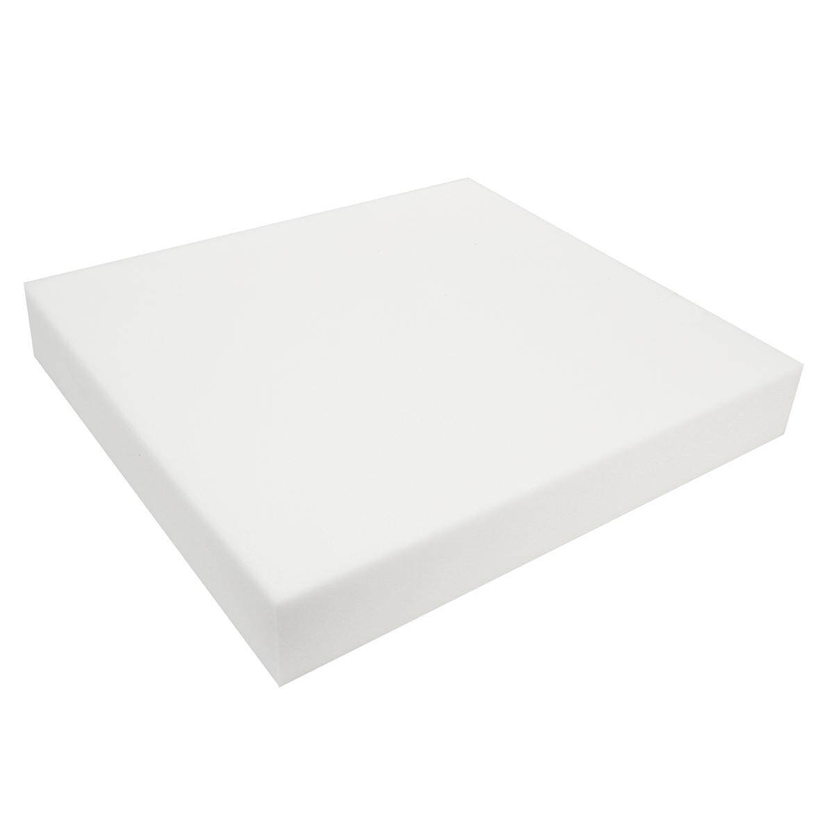 24 White Square High Density Seat Foam Sheet Upholstery Cushion Replacements # 2.5cm - intl