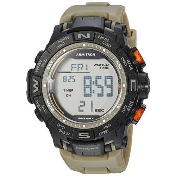 538c58bac Armitron Sport Mens 40/8410OGN Digital Chronograph Olive Green Resin Strap  Watch