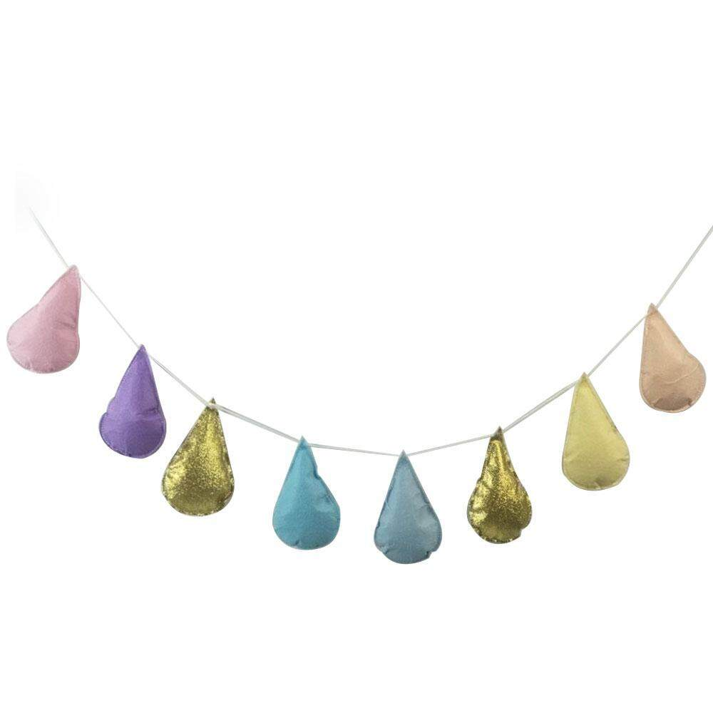 Hình ảnh Womdee Water Drop Shaped Home Wall Decor Cute Hanging Decoration Cotton Ball for Kids Room Decor Bedroom Wall Decor,Set of 8 Water Drop(4.7inch) - intl