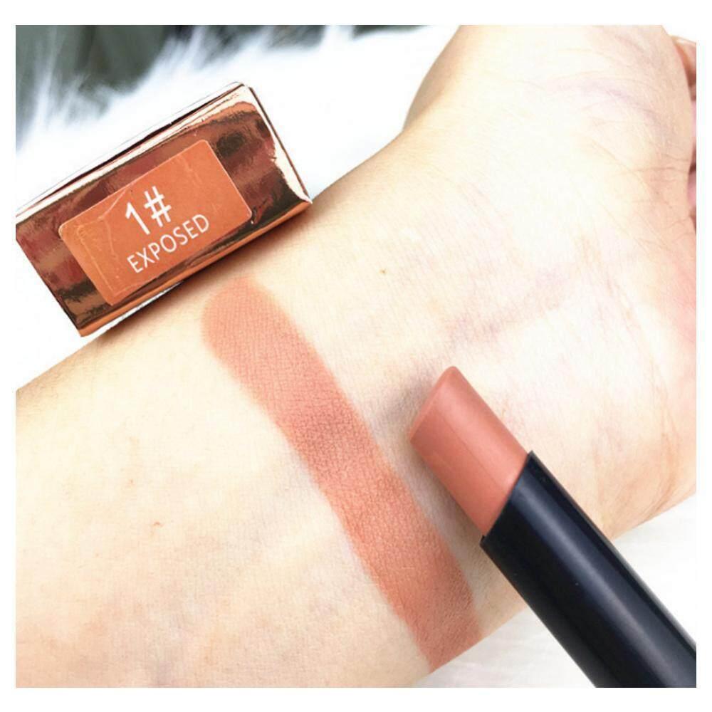 8 Warna Anti-Air Warna Tidak Mengkilap Lipstik Metalik Tahan Lama Tidak Lengket Liquid Lips