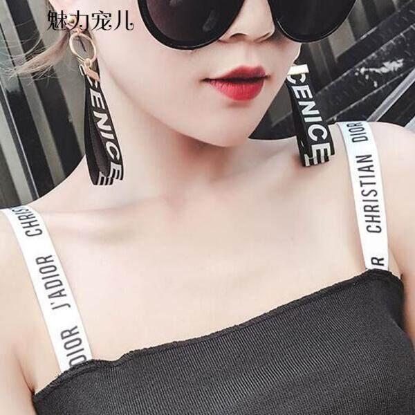 Pesona Darling Korea Super Cents Surat Pribadi Pita Kain Anting-Anting Temperamen Panjang Eropa dan