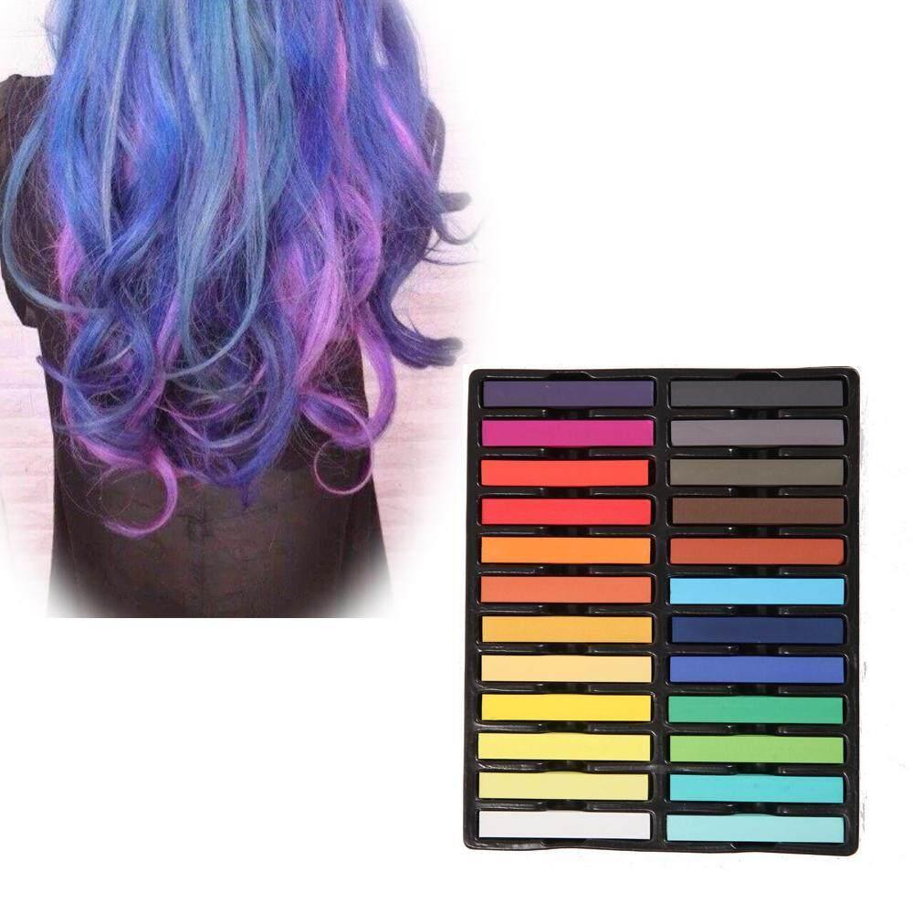 Oanda Rambut Chalk Set, 24 Warna Sementara Warna Rambut untuk Anak-anak Rambut Dyeing Pesta dan COSPLAY DIY, bekerja Pada Semua Warna Rambut (24 PCS)-Internasional