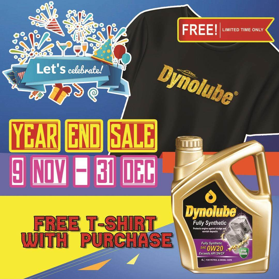 Dynolube 0W20 SN/CF Fully Synthetic 4Liter Engine Oil FREE 1 X T-Shirt (D)