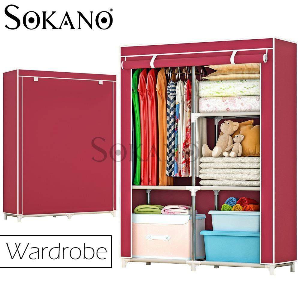 SOKANO 1401 Large Wardrobe with Spacious Storage And Strong Steel Structure