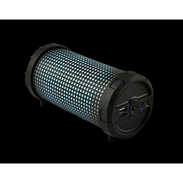 Nirkabel Bluetooth Pembicara MHS002 Khusus LED Ringan Luar Ruangan Bazooka Gaya Modis Desain Kompak Portabel FM Radio Stereo Audio untuk iPhone tablet iPad Smartphone Desktop Laptop Komputer (Hitam) -Internasional