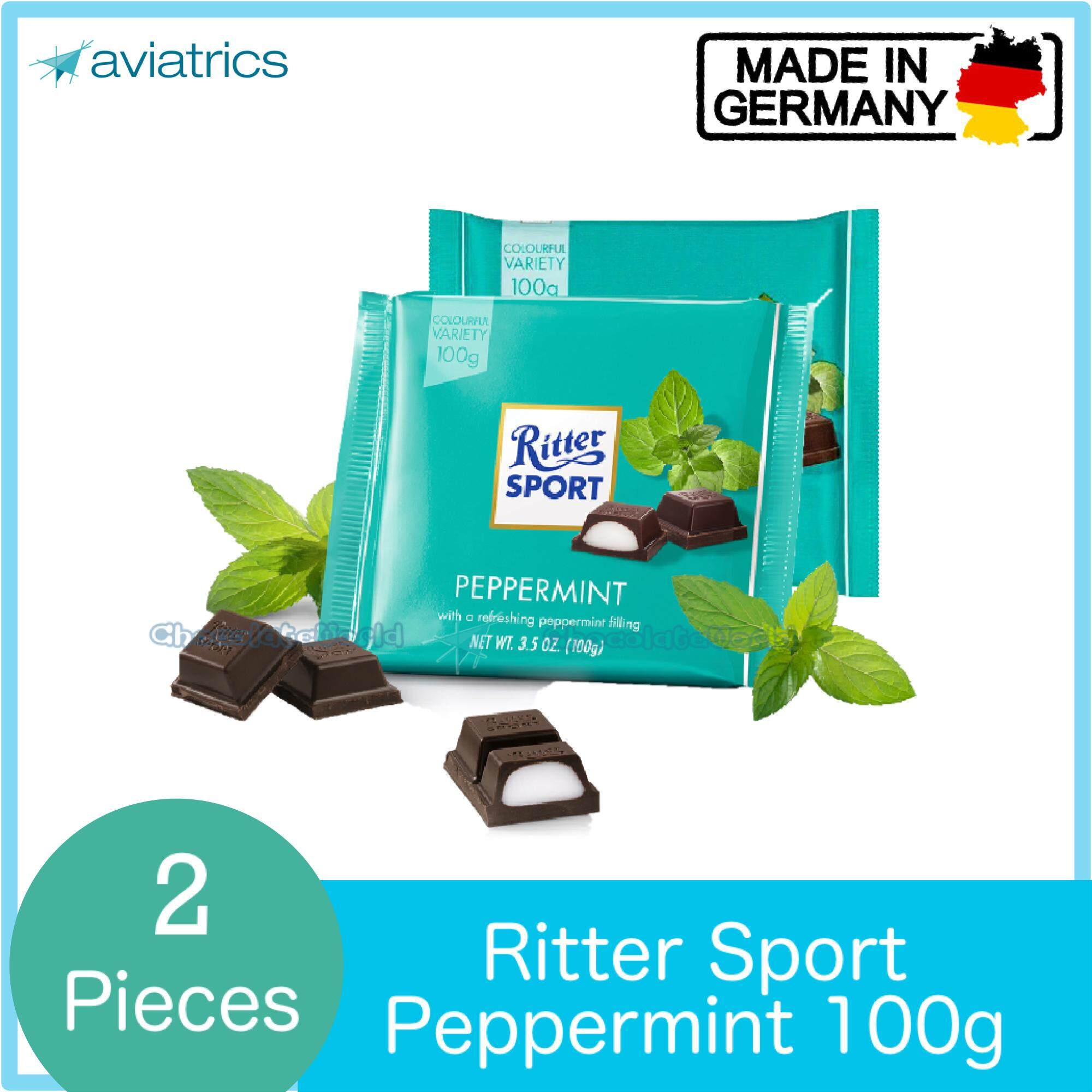 Ritter Sport Peppermint 100g X 2 (Made in Germany)