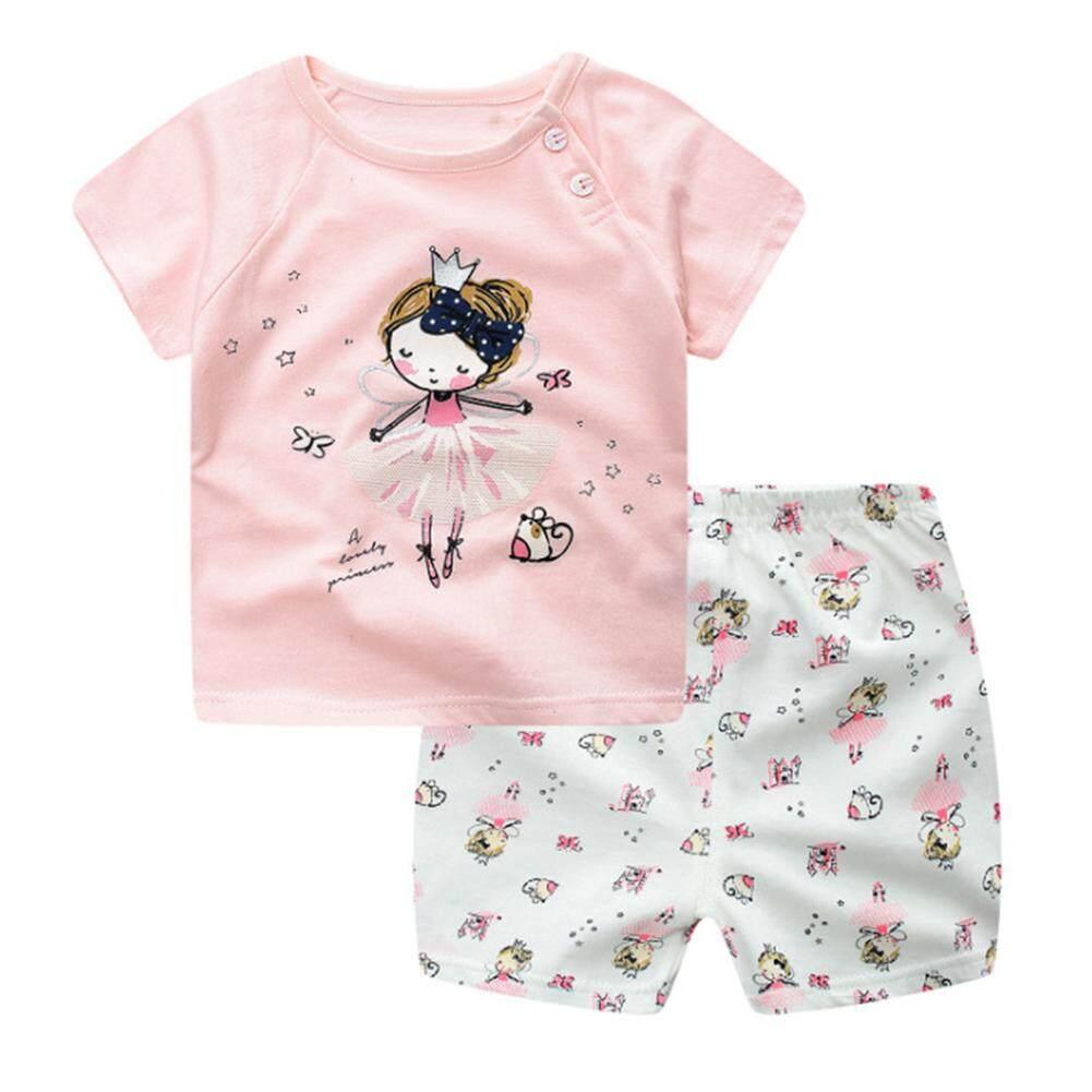 Bintang 2 Pcs/set Bayi Anak Pakaian Set Kaos Kartun + Celana Pendek Set By Star Mall.