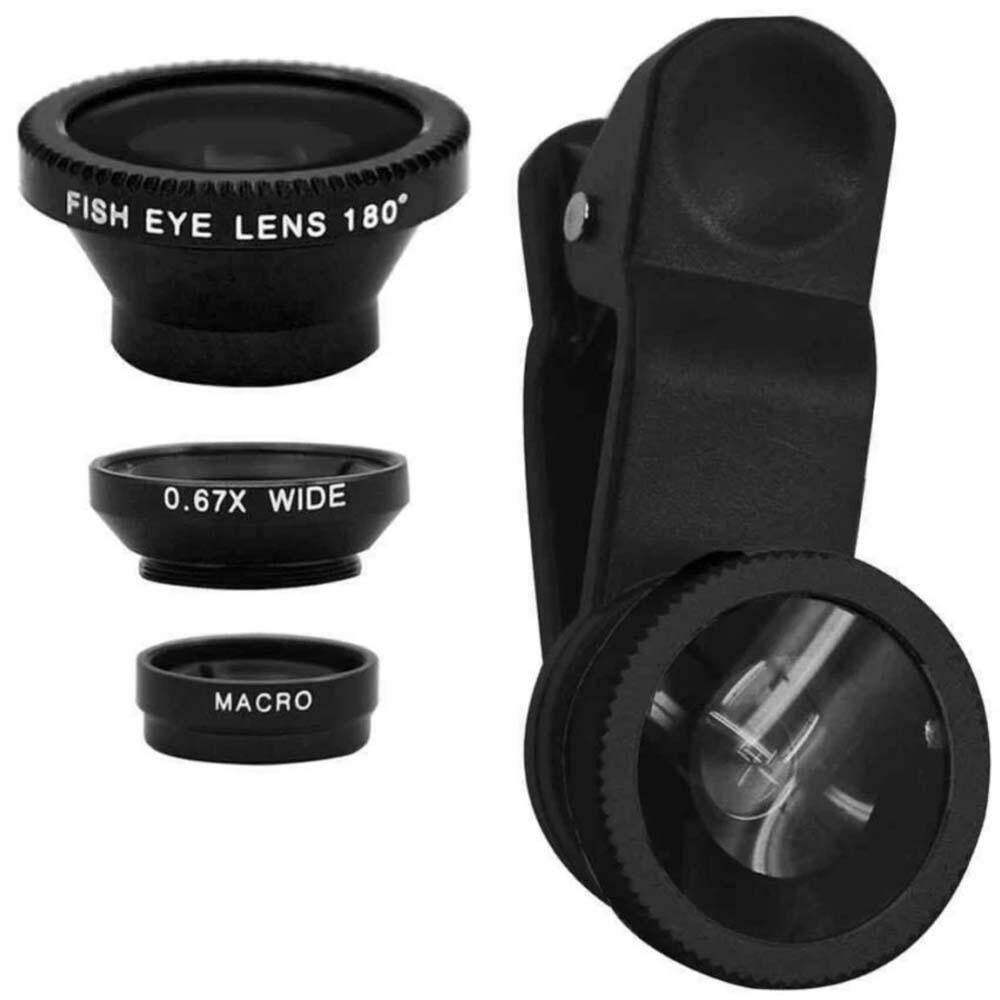 Fitur Lensa Jepit Fish Eye Cliplens Camera Lens Warna Random Kyatsu New 3 In 1 Wide Angle Macro Clip On