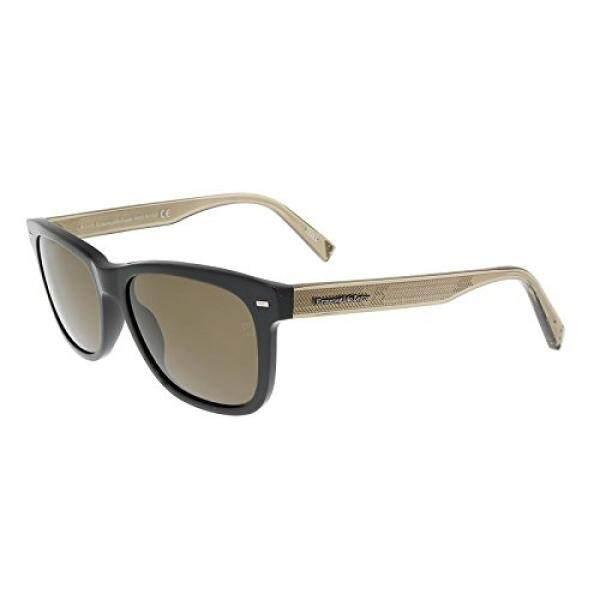 Ermenegildo Zegna EZ0028 01M Black Rectangle Sunglasses