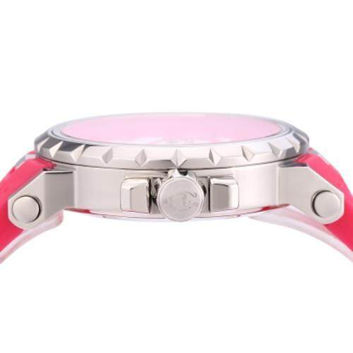 ANGIE 7135L UNISEX QUARTZ WATCH LUMINOUS POINTER 3ATM DATE DAY DISPLAY RUBBER BAND WRISTWATCH (RED)