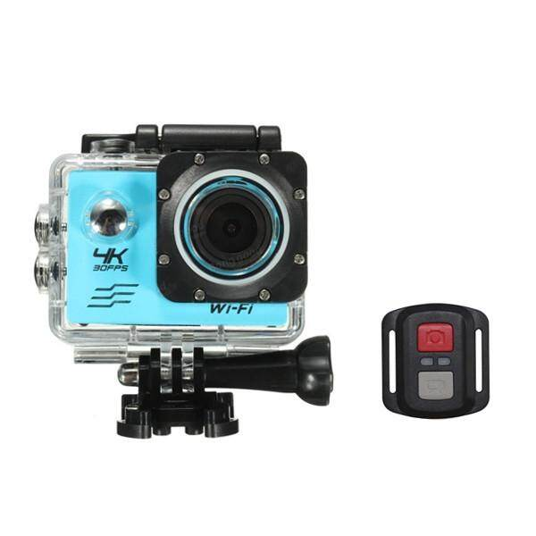 SJCAM 4 K Allwinner V3 untuk SONY 179 Sensor Kamera Olahraga 170 Derajat Sudut Lebar dengan Pergelangan Tangan RF dengan Pengendali Jarak Jauh Vs eken Biru