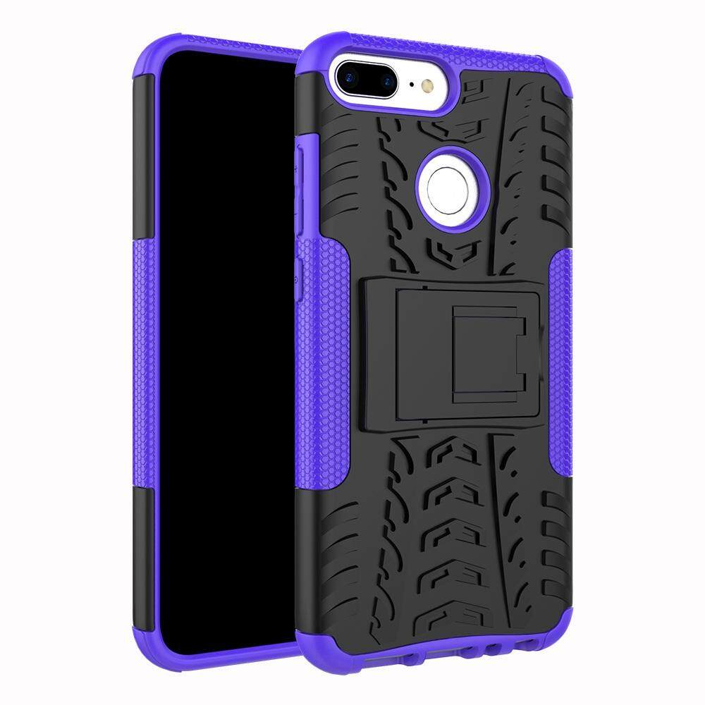 Case for Huawei Honor 9 Lite Hyun Pattern Dual Layer Shockproof Kickstand Hybrid Armor 2 In