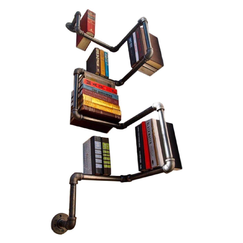 Industrial Urban Style Galvanised Steel Pipe Shelf Storage Shelving Book