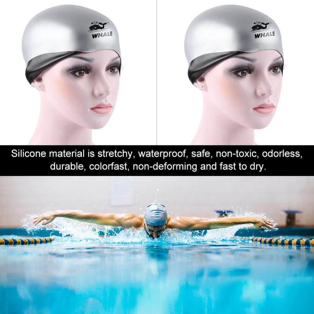 dff8cc590efa WHALE Adult Silicone 3D Ear Cover Swimming Cap Swimwear Swim Hat Unisex -  intl