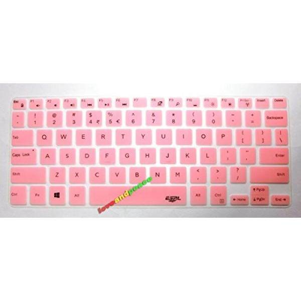 BingoBuy US layout Keyboard Protector Skin Cover for Dell Inspiron 13-7347 13-7348 13-7359 13-7352 13-7353 15-7547 15-7548 XPS 13-9343 13-9350 13-9360 with BingoBuy Credit Card Case (semi-light pink)