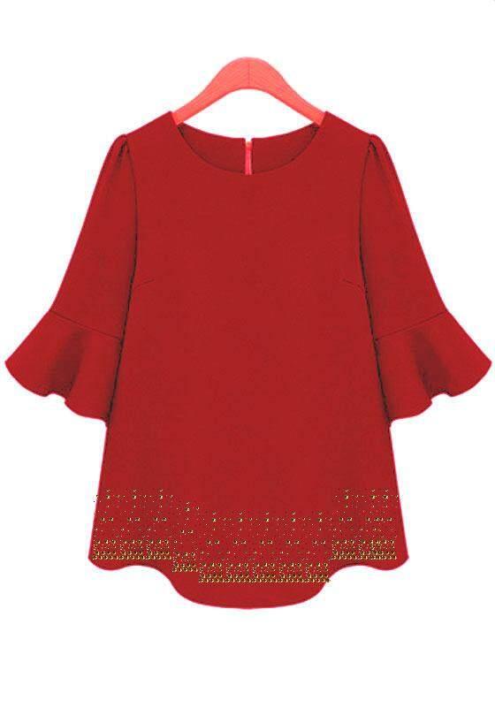 Modern peplum 3/4 blouse for women -  Hunza Chandani
