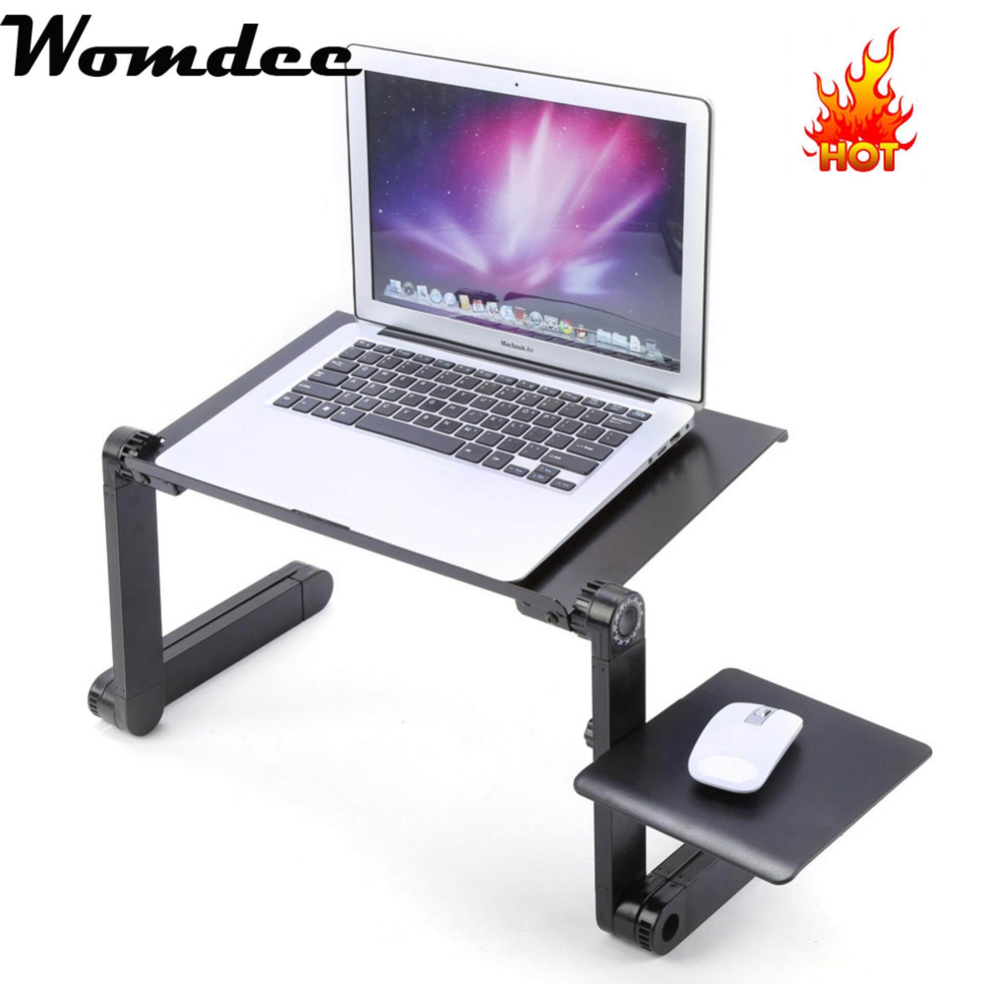 E Table T04 Meja Laptop Lipat Portable Cooling Pad Fan Cooler Aimons Kipas Desk Car Womdee Aluminum Stand With Adjustable Mouse Board Ergonomic Design