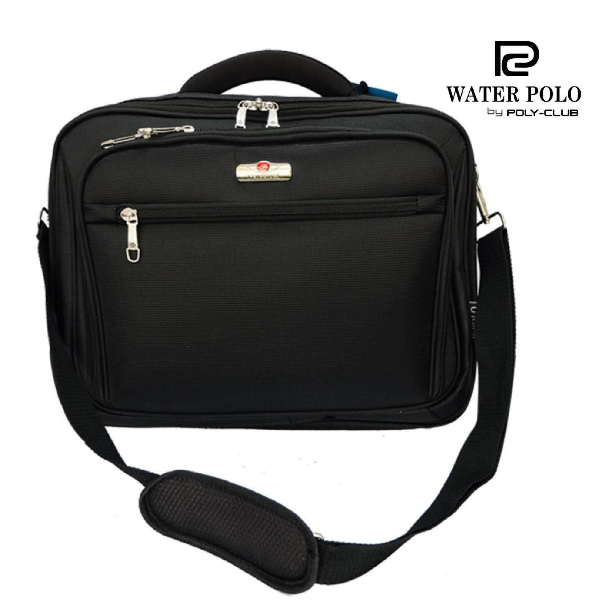 Waterpolo Hard-side Document Bag -WD9406 Black