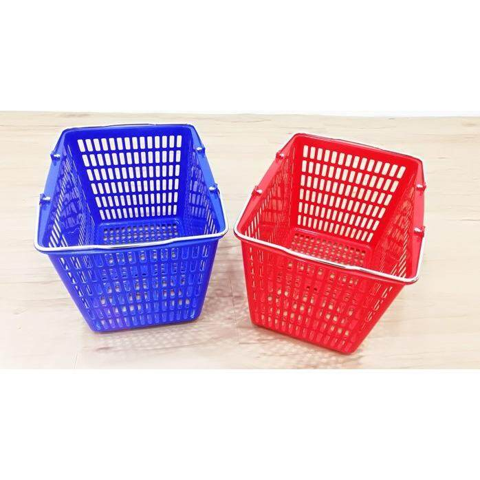 SQUARE SHOPPING BASKET (Red)