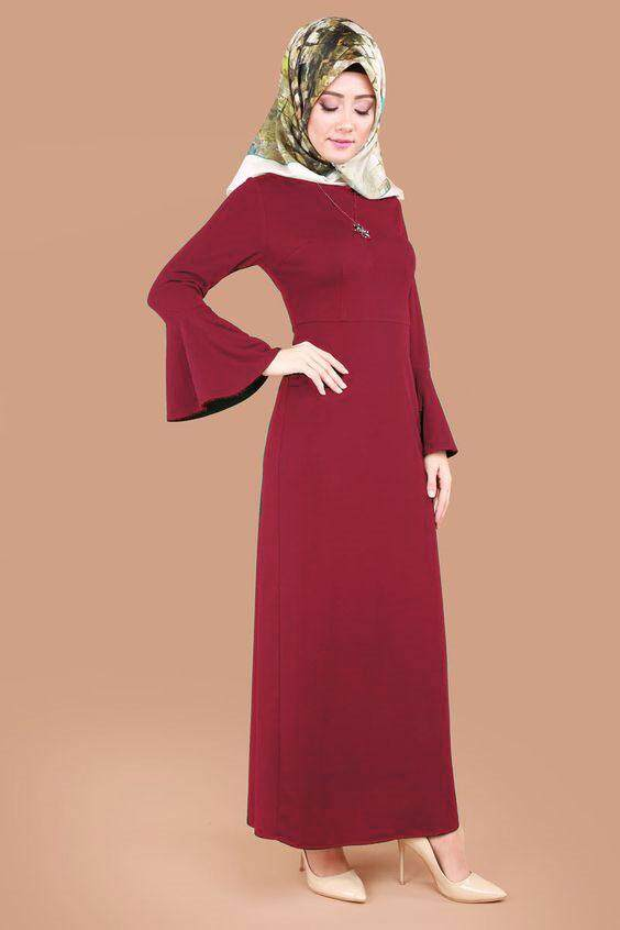 Sleeve fashion A cut jubah with peplum - Crowny