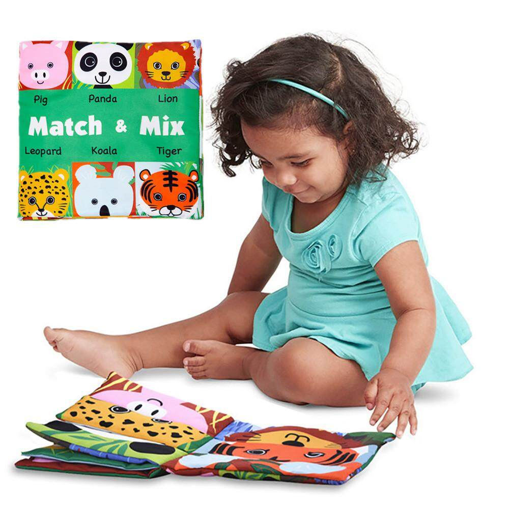 Face Matching Baby Toy Cloth Development Books Learning & Education Cloth Books - intl