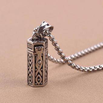 Bandingkan Toko Stainless Steel Vintage Ash Box Pendant Jewelry Pet Urn Cremation Memorial Keepsake Openable Put In Ashes Holder Capsule Chain Necklace sale ...