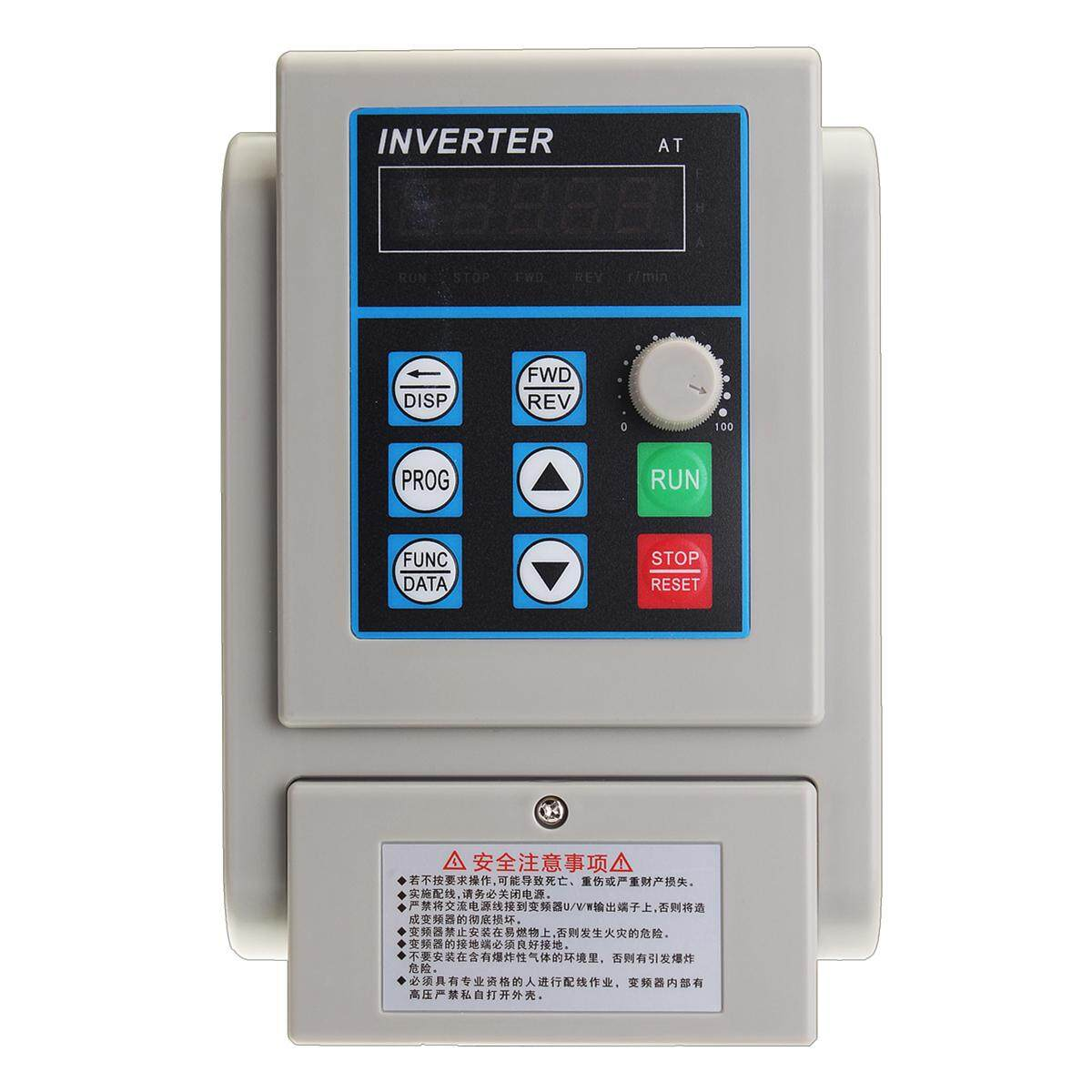 【Free Shipping + Super Deal + Limited Offer】220V 2.2KW 3HP Mendorong Frekuensi Variabel Inverter CNC VFD Tunggal untuk Tiga Fasa-Internasional