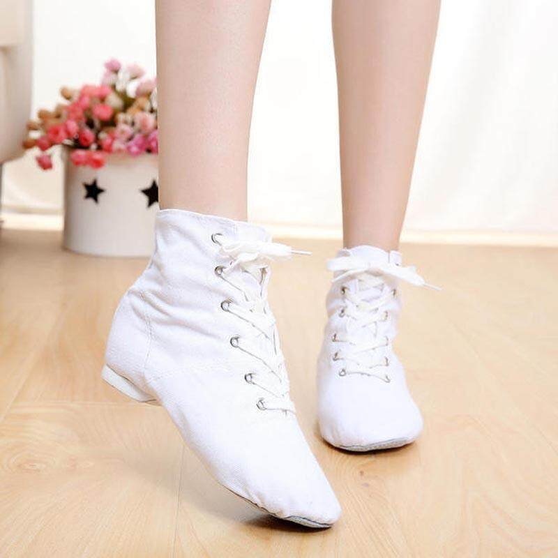 Musim Semi Pria Wanita Olahraga Tarian Sneakers Jazz Menari Sepatu Renda Hingga Tarian Bot Sneakers Children