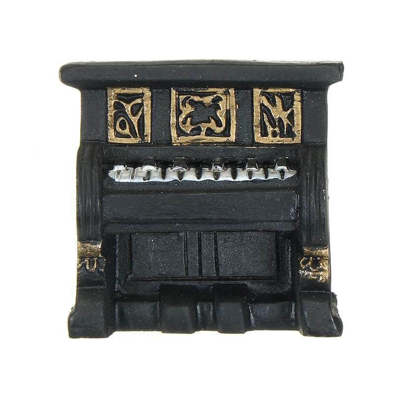 1 Set Retro Miniatur Rumah Boneka Furniture Piano Telepon Ornamen Mainan untuk Dekorasi Rumah Kerajinan Anak-anak Hadiah-Internasional