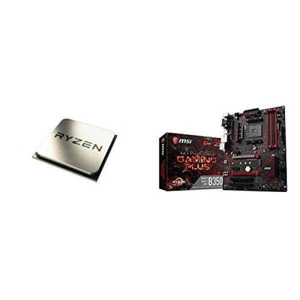 AMD Ryzen 5 1600X Processor (YD160XBCAEWOF) dan MSI Gaming AMD Ryzen B350 DDR4 VR Siap HDMI USB 3 Motherboard ATX (B350 Game Plus)