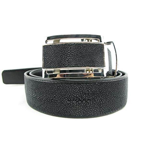 PELGIO Genuine Stingray Shagreen Skin Leather 1 Diamond Mens Belt 46