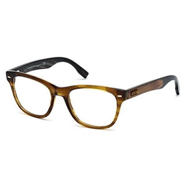 ZEGNA COUTURE Eyeglasses ZC5001 048 Shiny Dark Brown 52MM
